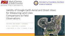 Validity of Google Earth Aerial and Street Views for Measuring Land Uses: Comparisons to Field Observations